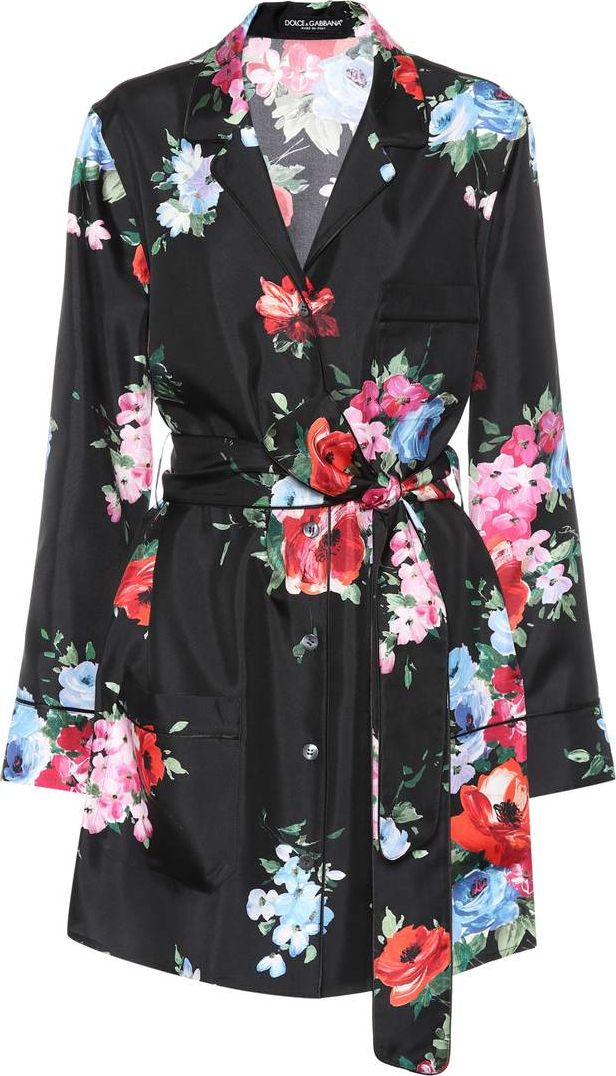 Dolce & Gabbana - Floral-printed silk pyjama skirt