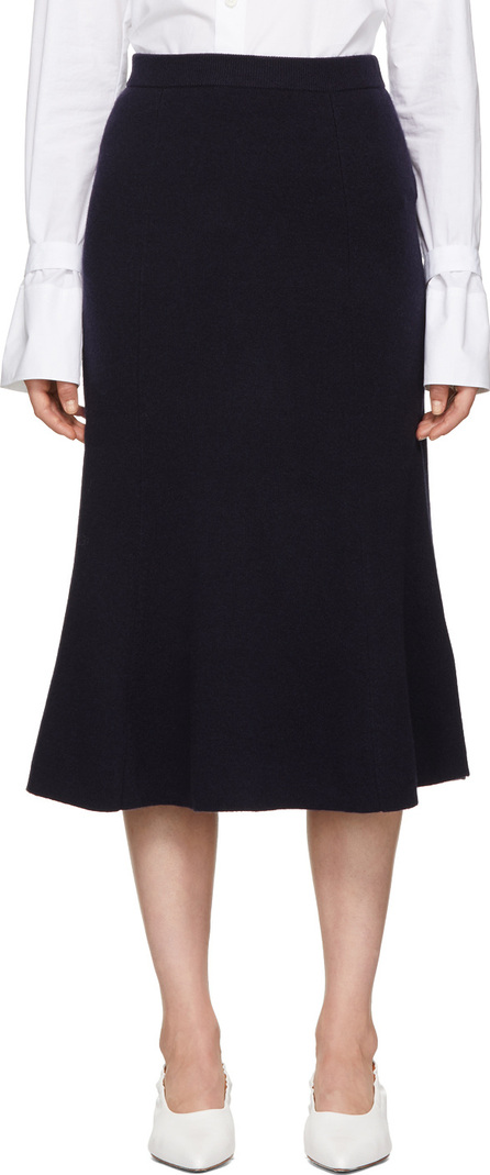 Joseph Navy Flared Skirt