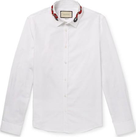 Gucci Duke Appliquéd Cotton Oxford Shirt