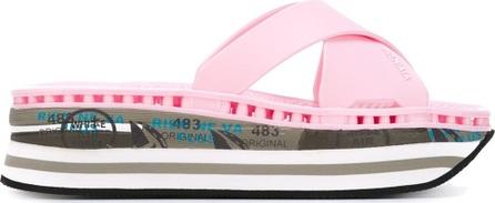 Premiata 'Moura' print strappy platform sandals