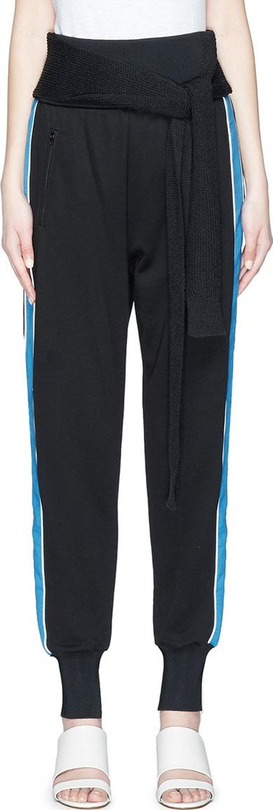 3.1 Phillip Lim Knit sash satin outseam jogging pants