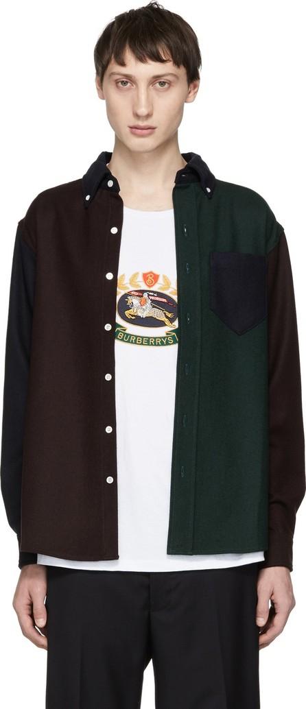 Aimé Leon Dore Multicolor Colorblocked Chamois Sport Shirt