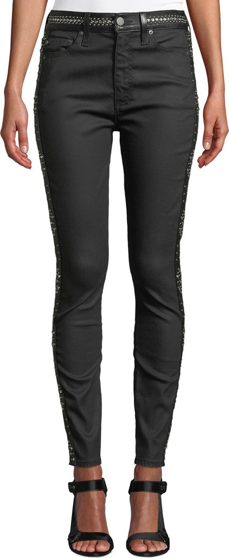 Alice + Olivia Good High-Rise Studded Ankle Skinny Jeans