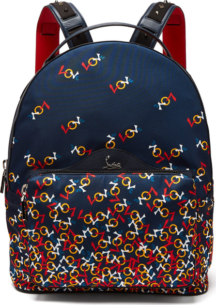 Christian Louboutin Backloubi printed backpack