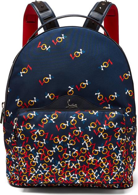 Christian Louboutin Backloubi printed backpack