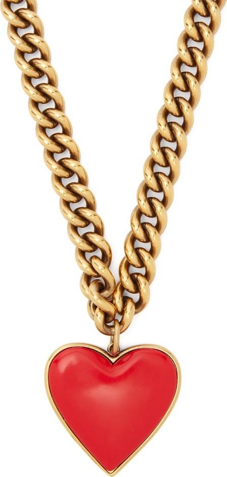 Balenciaga Heart pendant curb chain necklace