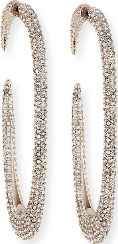 Saint Laurent Large Crystal Hoop Earrings