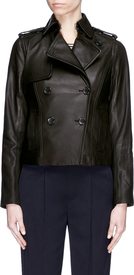 Vince Cropped leather trench jacket