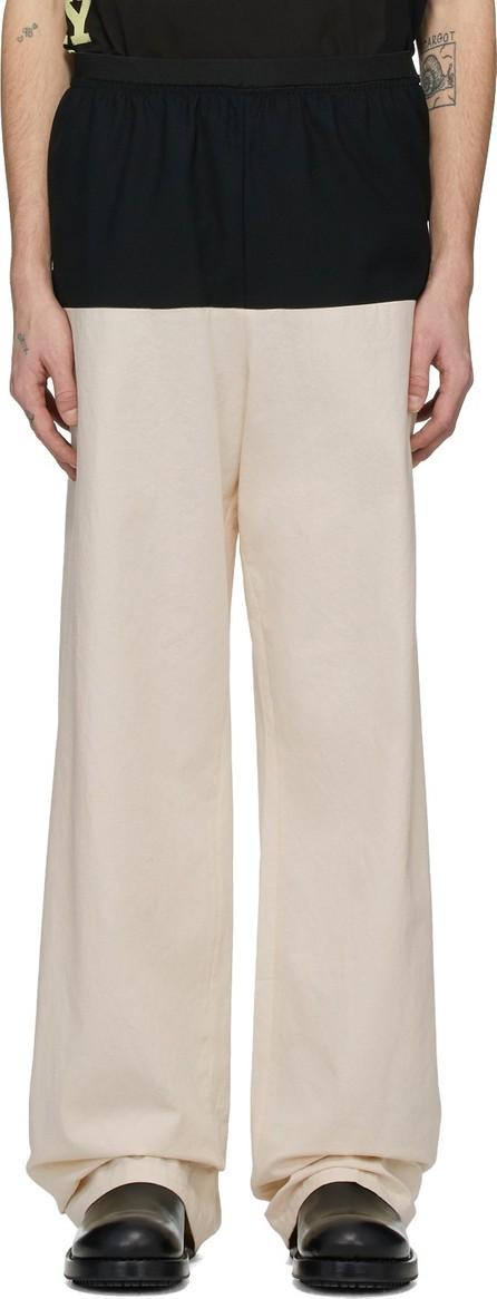 Raf Simons Tan & Navy Horizontal Cut Trousers