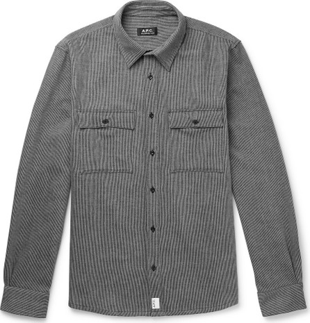 A.P.C. Enrico Striped Cotton-Drill Overshirt