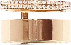 REPOSSI 'Berbère Module' diamond pavé 18k gold two row ring