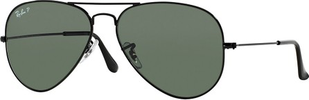 Ray Ban Metal Polarized Aviator Sunglasses
