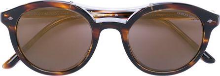 Giorgio Armani tortoiseshell round frame sunglasses