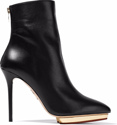 Charlotte Olympia Leather platform ankle boots