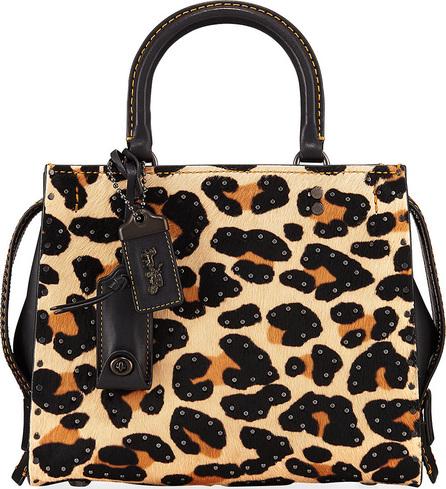 COACH 1941 Rogue 25 Haircalf Leopard Tote Bag