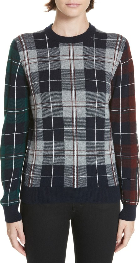 &Daughter Nell Tartan Patchwork Cashmere Sweater