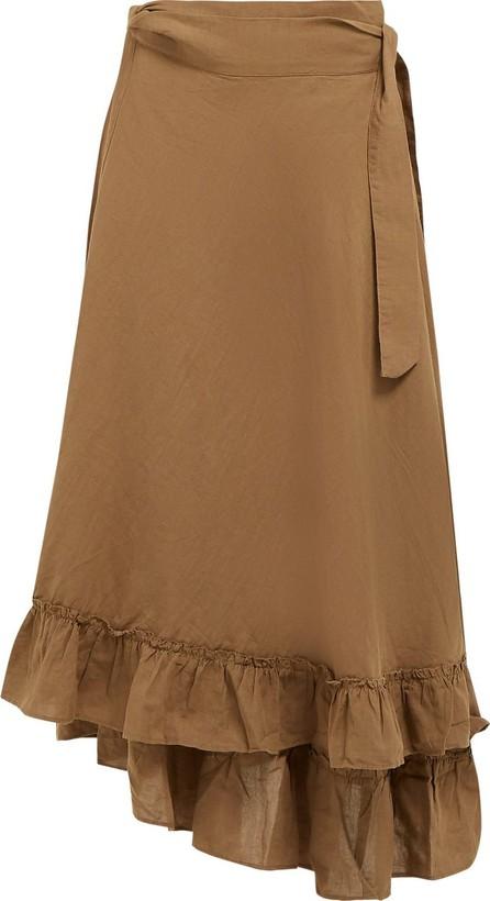 APIECE APART Feliz linen and cotton-blend wrap skirt