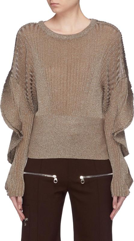 Chloe Ruffle sleeve lurex knit sweater
