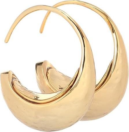 Rejina Pyo Moon 24k gold-plated hoop earrings