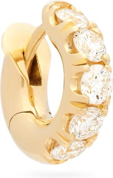 Spinelli Kilcollin Diamond & 18kt gold single hoop earring