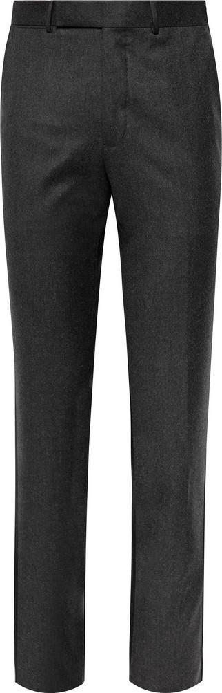 Ermenegildo Zegna Slim-Fit Wool-Felt Trousers