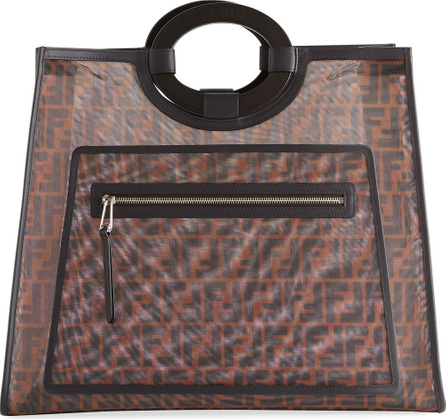 Fendi Runaway FF Mesh Shopper Tote Bag