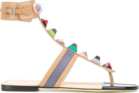 Fendi studded flat sandals
