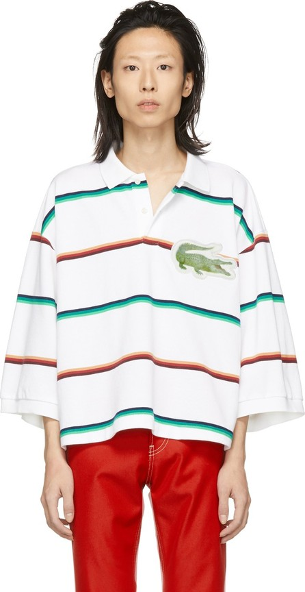 Doublet White 3D Patch Oversized Polo