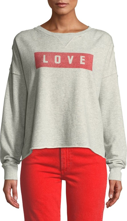 AMO Graphic Dropped-Shoulder Cutoff Sweatshirt