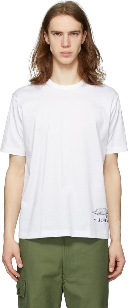 Junya Watanabe White 'St. John' T-Shirt