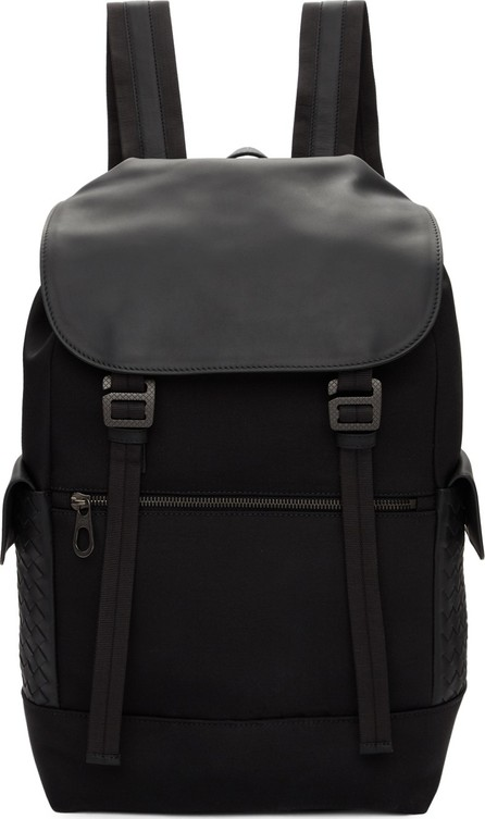 Bottega Veneta Black Hi-Tech Canvas Sassolungo Backpack