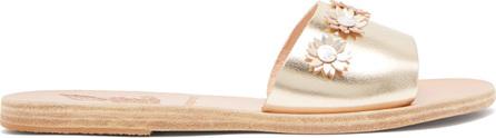 Ancient Greek Sandals X Fabrizio daisy-appliqué slides