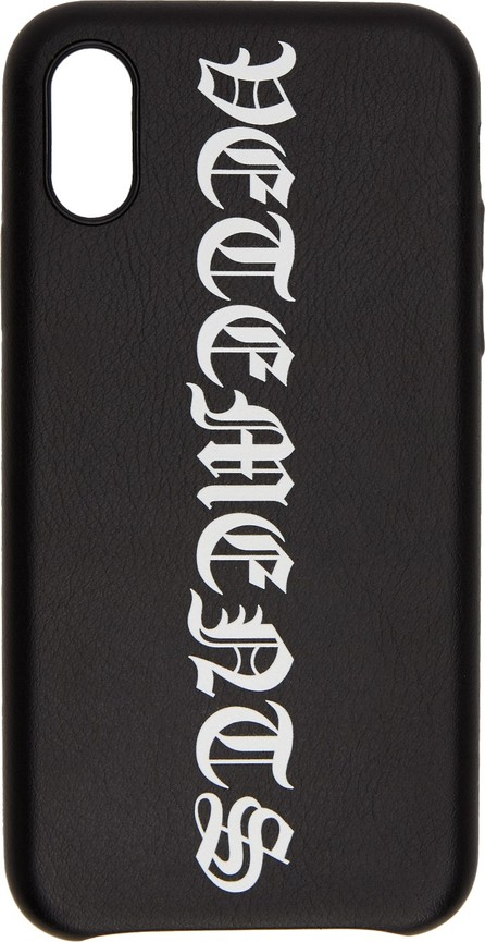 Vetements Black Vertical Logo iPhone XS Max Case
