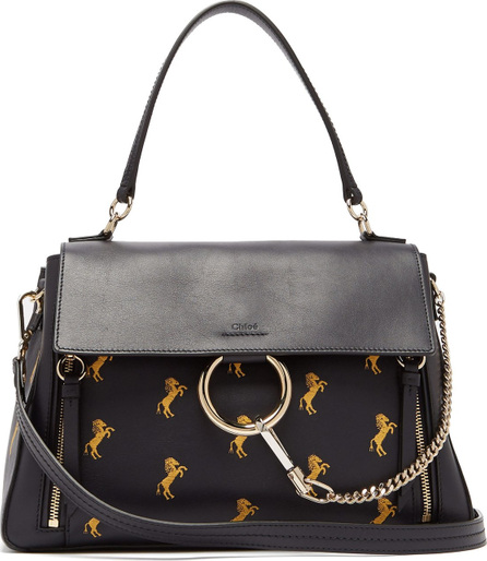 Chloe Faye Little Horses embroidered leather bag