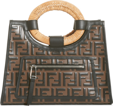 Fendi Runaway Logo Calfskin Leather Shopper