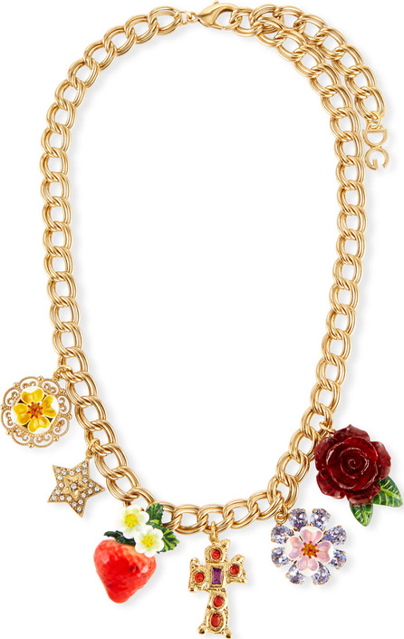 Dolce & Gabbana Crystal Charm Necklace