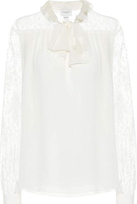 Giambattista Valli Pussy-bow silk blouse