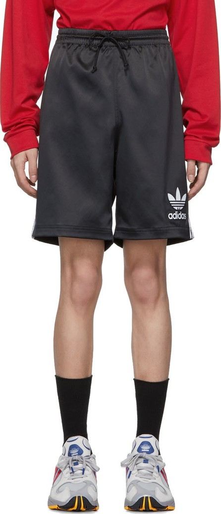 Adidas Originals Black Satin Shorts