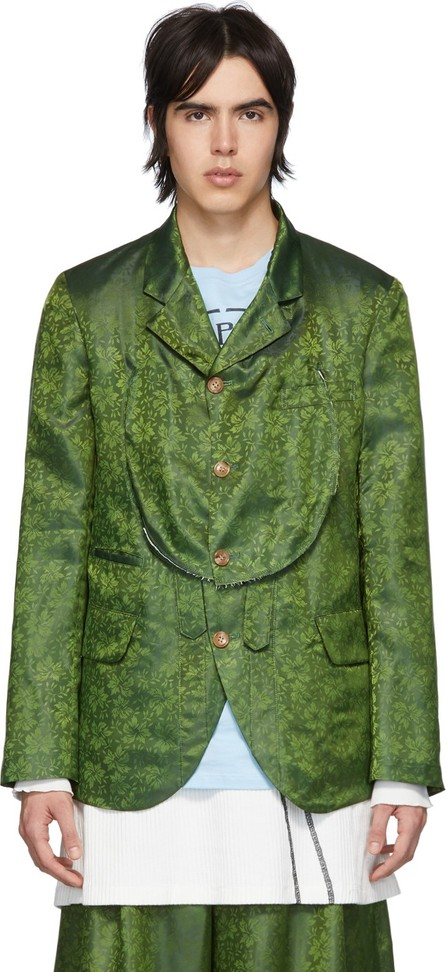 Comme Des Garçons Homme Plus Green B Pattern Blazer