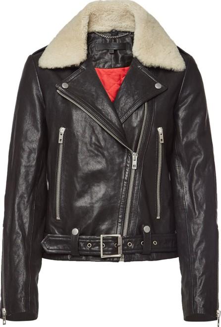 Rag & Bone Mackenzie Leather Jacket with Cotton