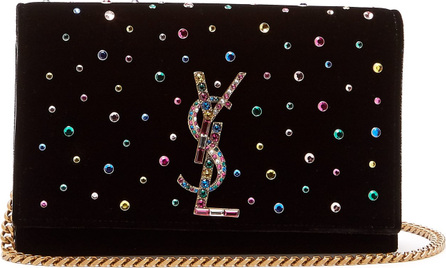 Saint Laurent Kate small crystal-embellished cross-body bag