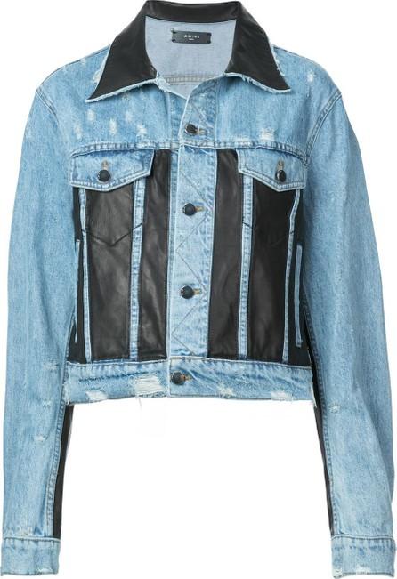 Amiri Leather Panel Trucker Jacket