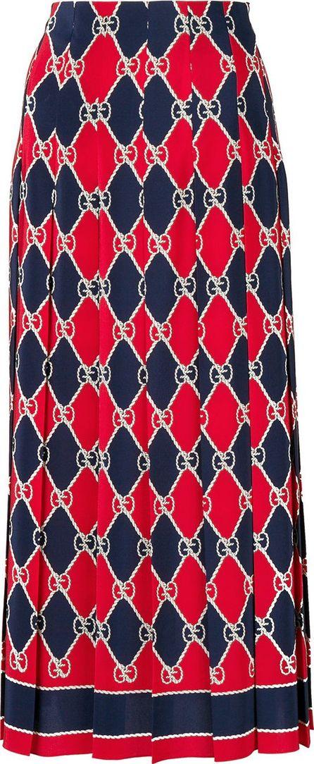 Gucci Gucci Rhombus print skirt