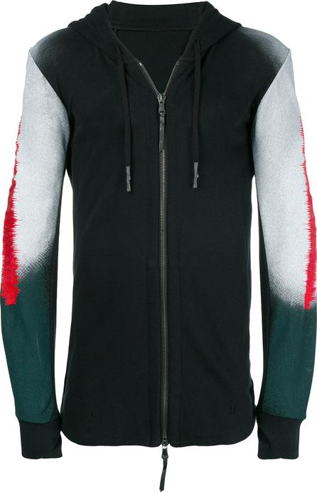 11 By Boris Bidjan Saberi Printed sleeves zipped hoodie