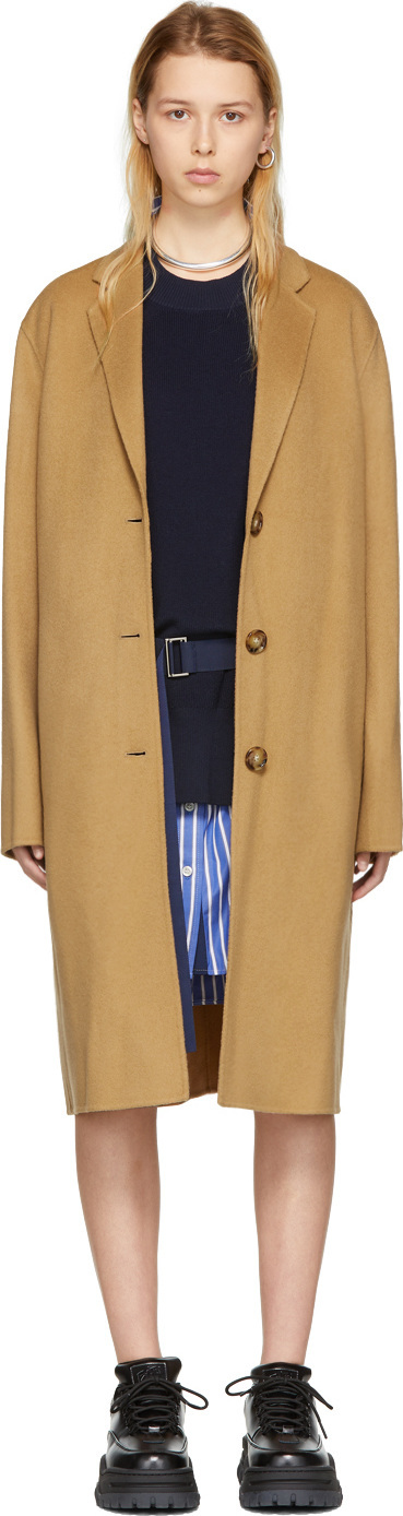 Acne Studios Tan Avalon Doublé Coat