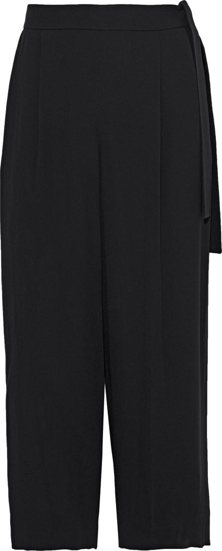 Vince Cropped pleated crepe wide-leg pants