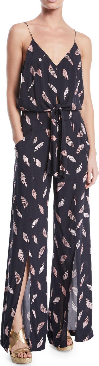 ViX Swimwear Nora Printed Wide-Leg Coverup Jumpsuit