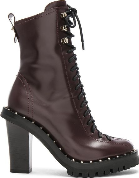 Valentino Leather Soul Rockstud Boots