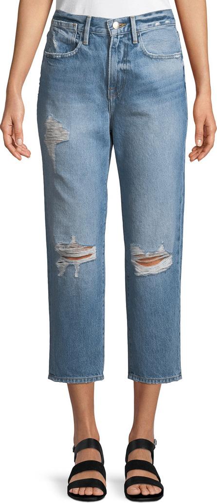 FRAME DENIM Le Stevie Cropped Straight-Leg Jeans