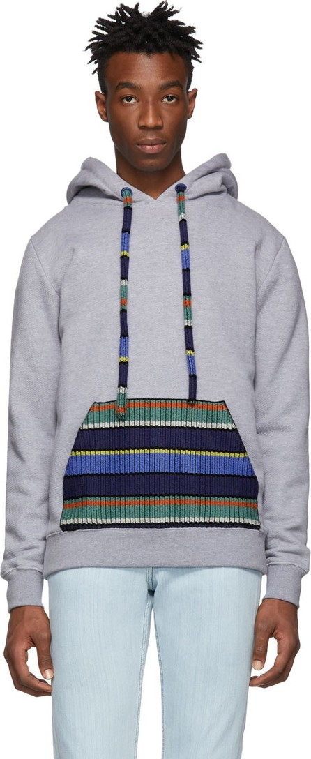 Alanui Grey Cashmere Pocket Hoodie